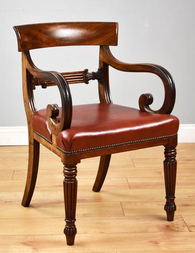 19th Century Regency Mahogany Open Armchair (1 of 9)