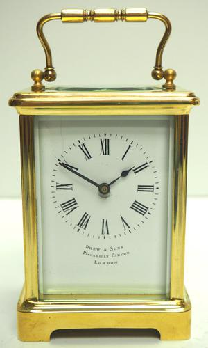 Fine Antique French 8-day Carriage Clock Timepiece by Drew & Sons London (1 of 11)