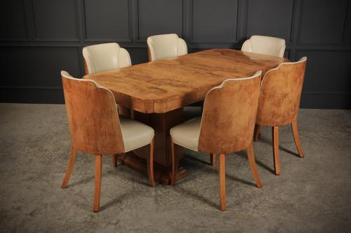 Art Deco Epstein 6 Seat Dining Table & Chairs Suite (1 of 22)