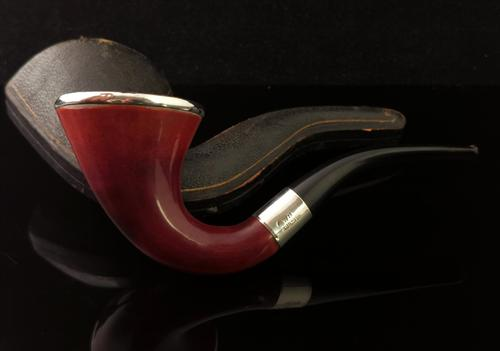 Antique Calabash Smoking Pipe, Sterling Silver (1 of 9)