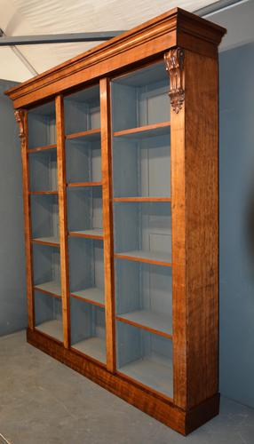 Antique Mahogany Open Bookcase (1 of 2)