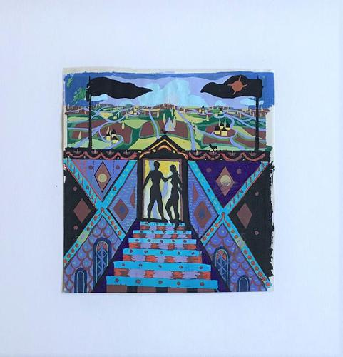 Original Gouache Painting 'A new world' by Richard Walker 1925-2009. Studio stamped. Framed (1 of 3)