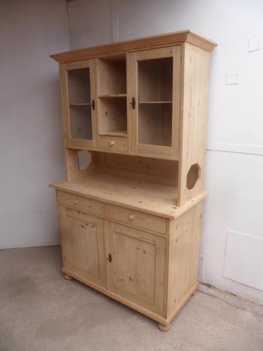 Victorian Octagonal Antique Pine Large Kitchen Dresser to wax /paint (1 of 10)