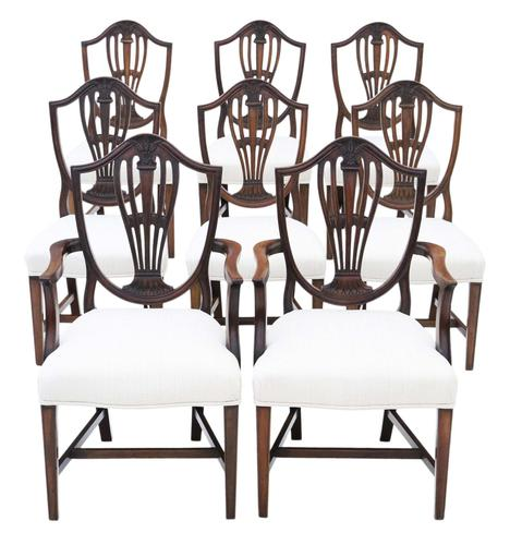 Georgian fine quality set of 8 mahogany dining chairs c.1800 (1 of 11)