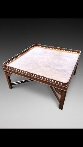 Georgian Style Walnut Coffee Table (1 of 3)