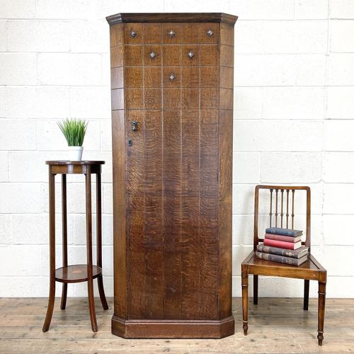 Early 20th Century Antique Oak Hall Cupboard (1 of 9)