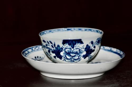 1766-70 Liverpool's Philip Christian Tea Bowl and Saucer 'Bird on a Branch' (1 of 9)