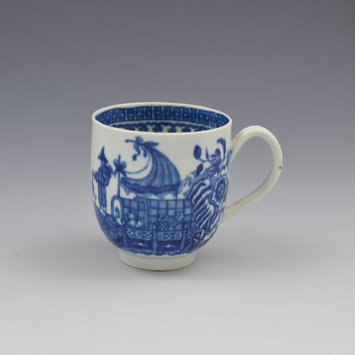 First Period Worcester Porcelain Fisherman Coffee Cup c.1775 (1 of 8)