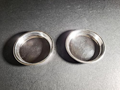Pair of 1930s Silver Coasters (1 of 3)