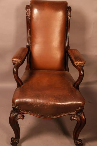 Good Early Victorian Gentlemans Library Armchair in Rosewood (1 of 9)