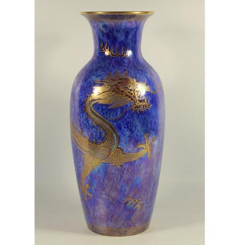 Wedgwood Fairyland Lustre - Good & Large Celestial Dragon Vase c.1914 (1 of 7)