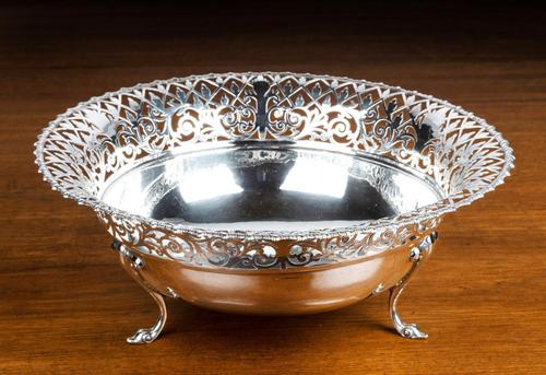 Early 20th Century Flared & Cast Silver Bowl (1 of 7)