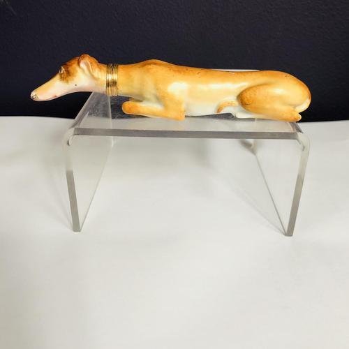 Porcelain Scent Bottle Greyhound (1 of 5)