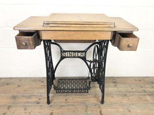 Antique Singer Sewing Machine Side Table (1 of 12)
