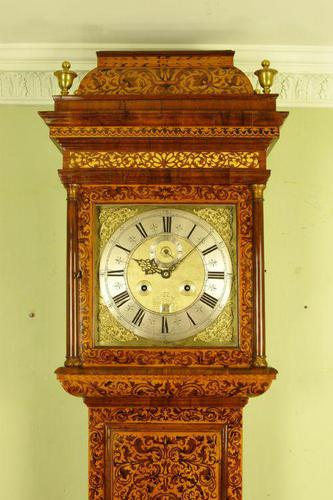 Fine Month Marquetry Longcase Grandfather Clock - Bird, London (1 of 16)