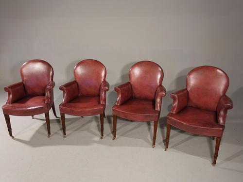 Elegant Set of Early 20th Century Club or Bridge Chairs (1 of 6)