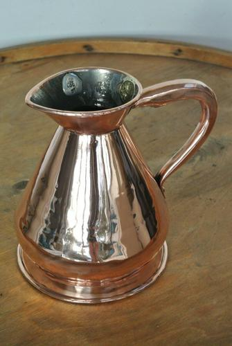 Antique Copper Pint Haystack Measure Castellated Seam Later GR Duty Mark (1 of 11)