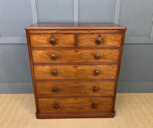Victorian Tall Mahogany Chest of Drawers (1 of 12)