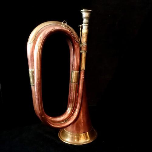 9th Lancers Antique Bugle, Copper & Brass c.1900 (1 of 6)