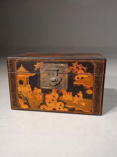 Good Early 20th Century Oriental Rectangular Box (1 of 5)