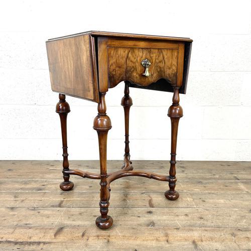 19th Century Walnut Drop Leaf Side Table (1 of 11)