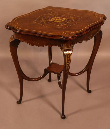 Quality Inlaid Window Table (1 of 4)