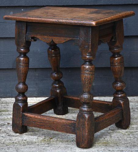 Lovely 19th Century Oak Joint Stool c.1800-1850 (1 of 10)
