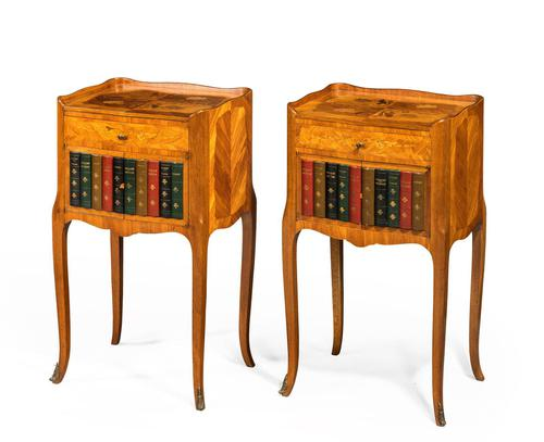 Pair of Late 19th Century Kingwood & Marquetry Night Cabinets (1 of 5)