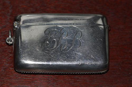 1913 Silver Vesta Case by Birmingham Silversmith Charles S Green & Co Ltd (1 of 6)