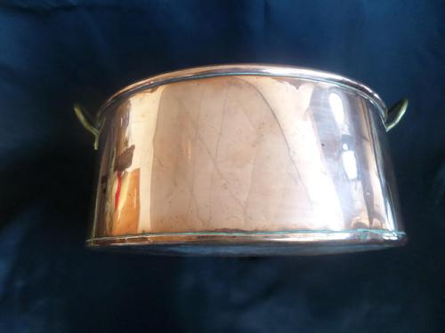 A Copper Planter 12 inches x 10.5inches  with Brass Handles. 1920's (1 of 5)