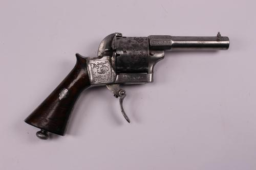 French 19th Century 6 Shot 7mm Self Cocking Pinfire Revolver (1 of 6)