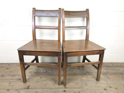 Pair of 19th Century Welsh Oak Farmhouse Chairs (1 of 11)