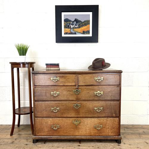 Georgian Antique Oak Chest of Drawers (1 of 10)