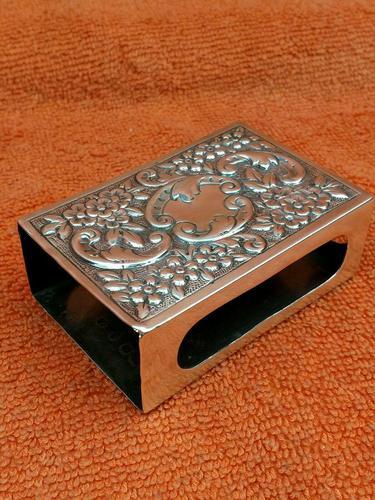 Antique Sterling Silver Heavy Hallmarked  Matchbox Case , 1890 Samuel Walton Smith (1 of 12)