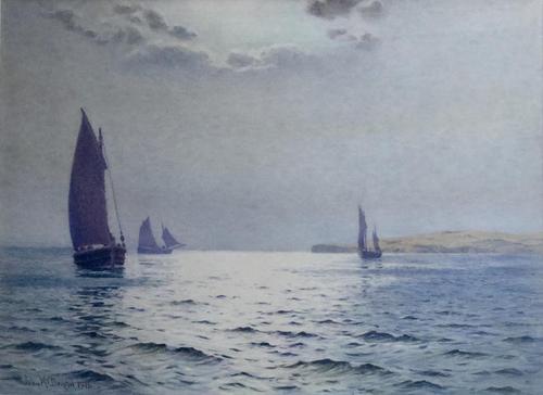 John MacDougal Watercolour - A Summer Sunlight Sea (1 of 3)