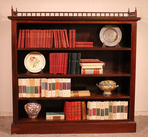Fine Open Bookcase in Mahogany Early 19th Century - England (1 of 11)