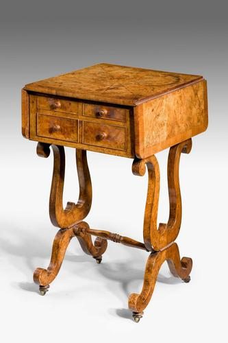 Regency Period Amboyna Work Table (1 of 8)