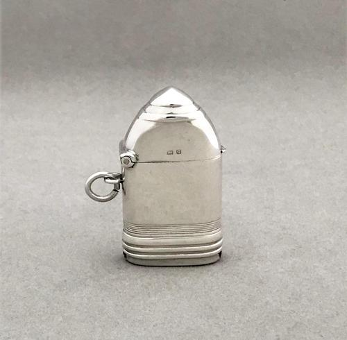 First World War novelty silver 'shell' vesta (1 of 9)