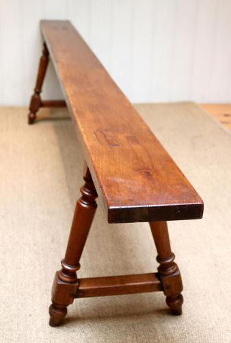 Late 19th Century Cherrywood Bench (1 of 7)