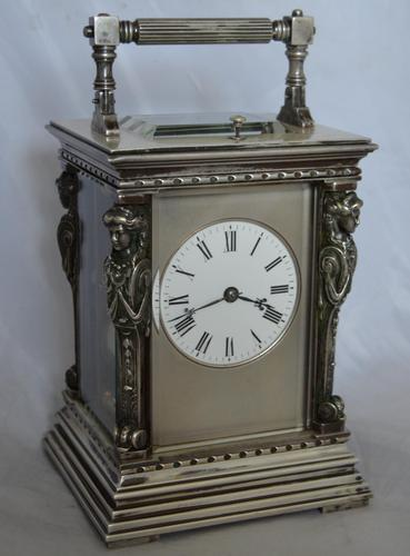 French Caryatids Repeating Carriage Clock (1 of 7)
