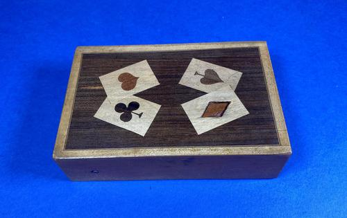 1930s Wooden Inlaid Puzzle Card Box (1 of 11)