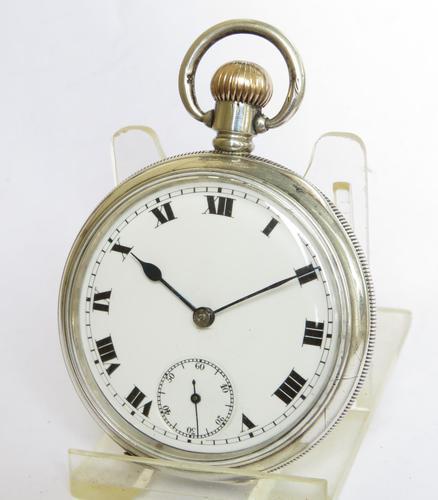 Antique Silver Buren Pocket Watch, 1912 (1 of 5)