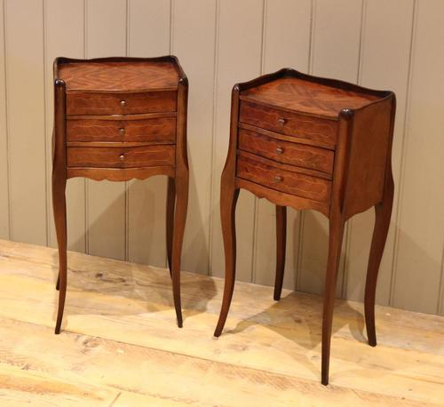 Pair of Mahogany Inlaid Bedside Cabinets (1 of 10)