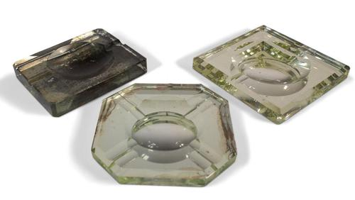 Deco Glass Ashtrays (1 of 5)