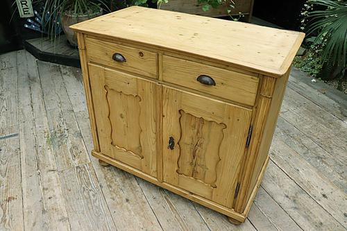 Old Georgian Pine Dresser Base / Sideboard / Cupboard / Cabinet - We Deliver! (1 of 10)