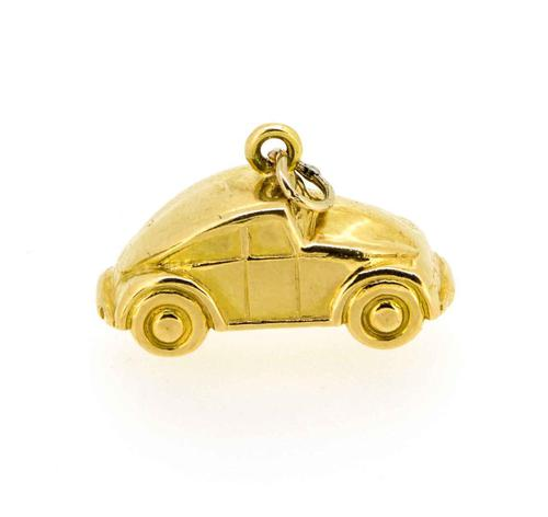 1960s Gold Beetle Car Charm / Pendant (1 of 7)