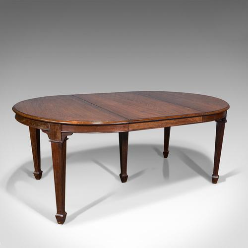 Antique Colonial Campaign Table, Indian, Rosewood, Dining, Extending, Victorian (1 of 12)