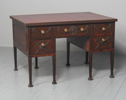 Rare Georgian Period Adams Style Mahogany Desk (1 of 15)