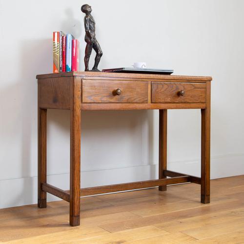 Vintage Mid Century 2 Drawer Oak Desk by Gordon Russell (1 of 14)