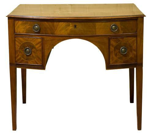 George III Mahogany Bowfronted Dressing Table c1780 (1 of 7)